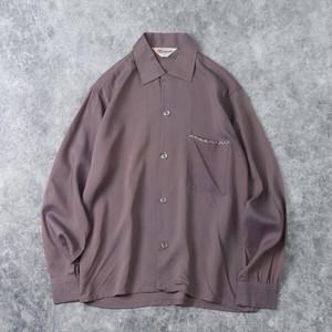 60年代 ''Somerset'' オープンカラーシャツ 古着 A90