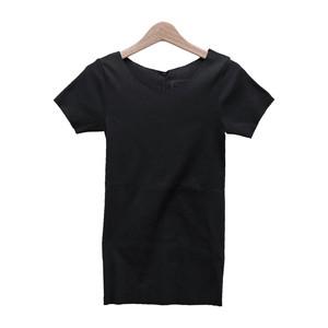 tumugu ツムグ レディース Tシャツ コポリフライス Uネック 半袖カットソー【TC17202】