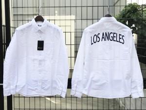 ★Flava先行別注★ Sweep オックスフォードシャツ ''LOS ANGELES'' (WH)