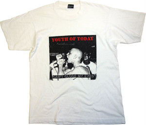 "【L】 80〜90s YOUTH OF TODAY T-SHIRT ""CAN'T CLOSE MY EYES"""