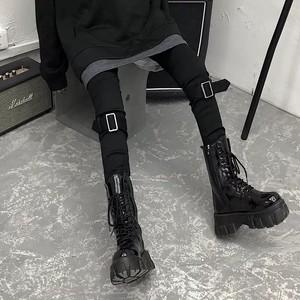knee belt pants