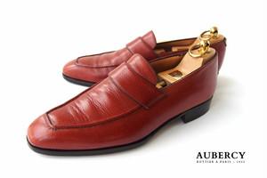 【中古】オーベルシー|Aubercy|グレインレザーローファー|6.5
