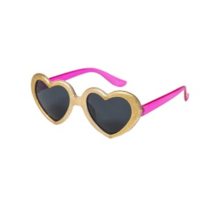 S881G Glitter Heart Sunglasses