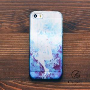 【限定色】アイフォンse ケース クリア iPhoneSE クリアケース キラキラ 大人可愛い 花 むつのはな/Chiryzmo