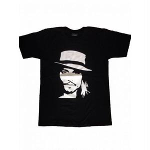 ジョニー・デップ Johnny Depp フェイス/顔 プリント Tシャツ