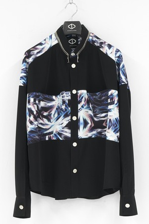 Panel Pocket Button Shirts / Black&Print [20-21AW COLLECTION]
