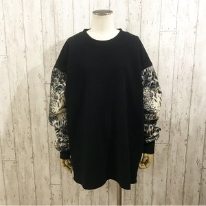 MIX LEOPARD SWEAT(BLACK)