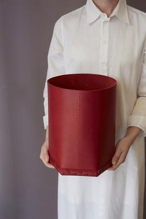 Cylinder Leather Box