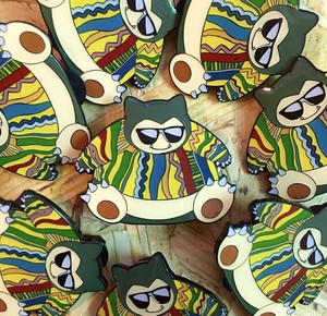 "THUMBS""Snorlax x Biggie Pin Badge"""