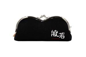帆布×インクジェットプリント・山型眼鏡ケース・般若・日本製