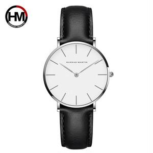 ジャパンクォーツシンプルな女性のファッション時計ホワイトレザーストラップレディース腕時計ブランド防水腕時計36mmCB36-YH