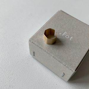 【_Fot】plate earring S_angular(ear cuff)/0902a