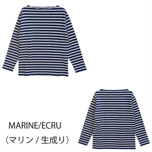 SAINT JAMES OUESSANT BORDER (MARINE/ECRU)【正規取り扱い品】