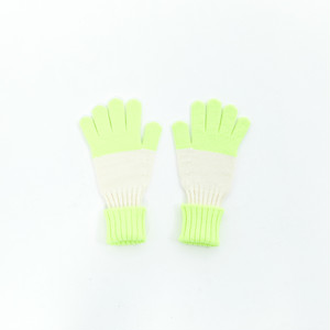 EZ DO by EACHTIME. Border Gloves [Neon Green]