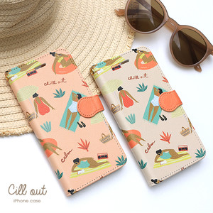 iPhone 手帳型スマホケース 【cill out】 iPhone5/5s/SE/6/6s/7/8/X/XS