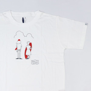 [ WEST SHORE ] Printed Tee ( skater & surfer ) - white