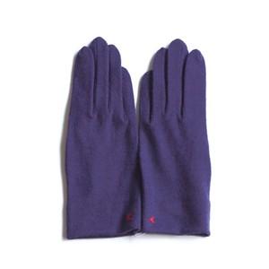 佩 手袋(C/#14 グレープ) ウール100% 手が細くキレイに見える