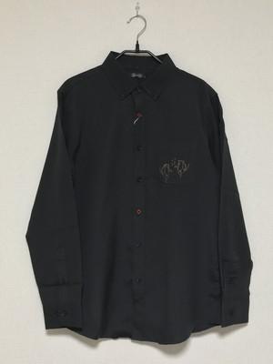 ワイシャツ(阿吽だんすだんす/ブラック)