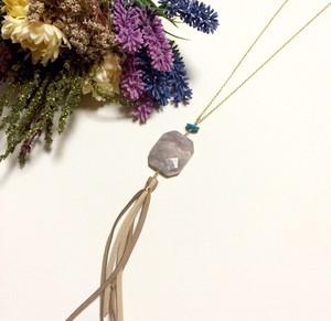 Jemstone fringe necklace