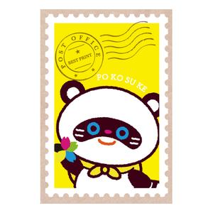 ポコ助ポストカード 切手(きいろ)