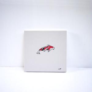 【風森美絵】18cm角原画(錦鯉)