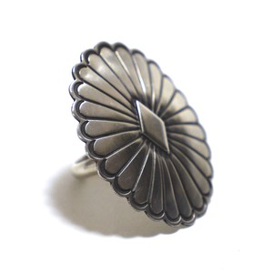 Navajo Sterling Silver Concho Ring