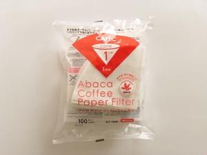 CAFEC アバカ円すいコーヒーフィルター 1杯用 100枚入り  AC1-100W