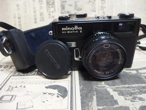 MINOLTA HI-MATIC E ブラック 革ケース付