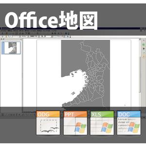 大阪府のoffice地図データ