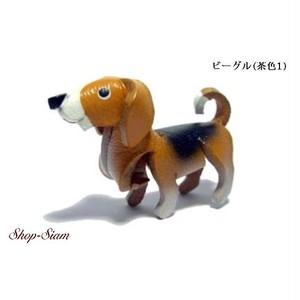 本牛革 アニマル キーチェーン ビーグル/Beagle ハンドメイド製