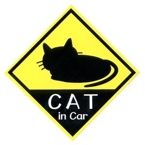 CAT in Car ステッカー シルエット