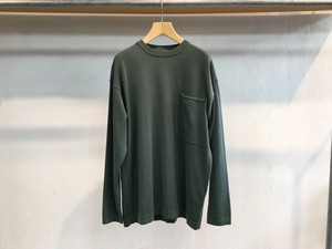 "crepuscule "" Pocket knit L/S "" Green"