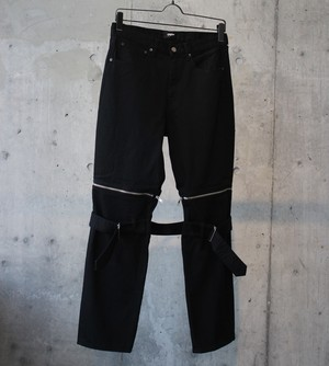 DENIM BONTAGE PANTS / BLACK