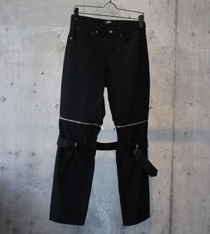 DENIM BONTAGE PANTS / BLACK