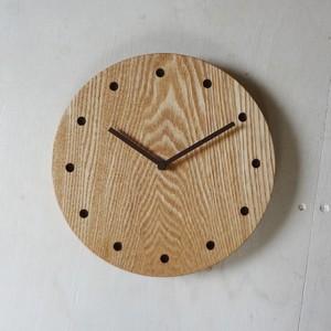 まんまる時計・大/タモ