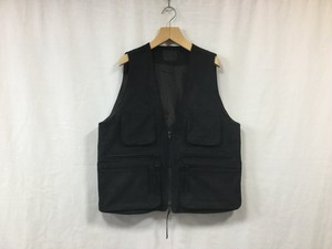 "bukht""SUEDE SAFARI VEST BLACK"""