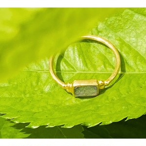 Rectangle * ring 〜 ラブラドライト & ムーンストーン