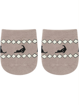 HALF SOCKS Marrakech BLACK CAT
