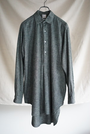 <SOLD OUT>Flannel Pull Over Work Shirt (dead stock) - French Vintage