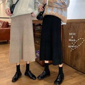 【送料無料】全2色♡ニットスカート♡フレアスカート♡