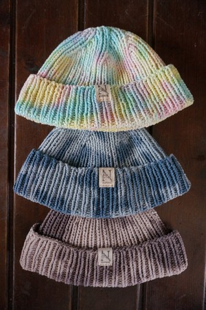 "NEUTRAL KNIT-CAP ""MARVIN【TIE-DYE】"""