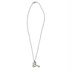 [予約商品]EFFECTEN/エフェクテン plate necklace 'E'