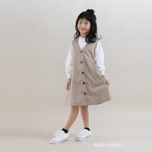【HOWDY DOODY'S】 バックリボンAラインジャンスカ 綿100% 110〜130cm(P36026-11)