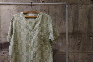 Collarless pattern shirt(USED)