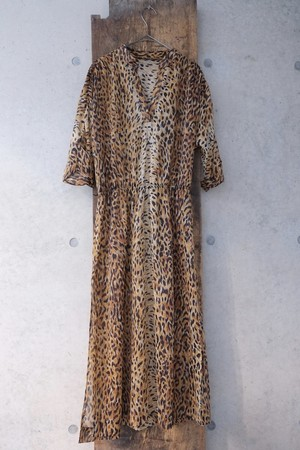 leopard wind one-piece.