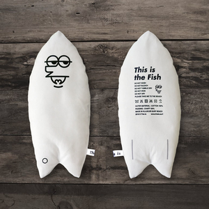 This is the Surfboard Cushion[Mr.Fish / White]
