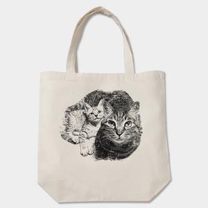 仲良し猫トートバッグ