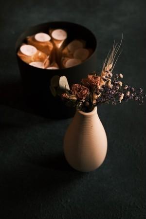花とシフォンケーキ