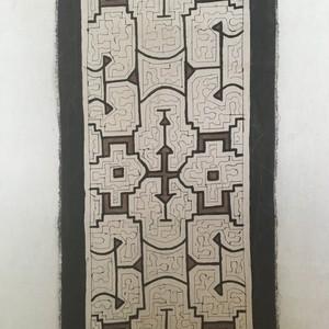 テーブルランナー 28x80cm シピボ族の工芸 アマゾンの泥染め 色つき