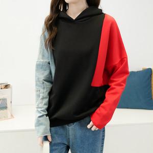 【トップス】配色ゆるりラックスファッション合わせやすいストリートパーカー24513160